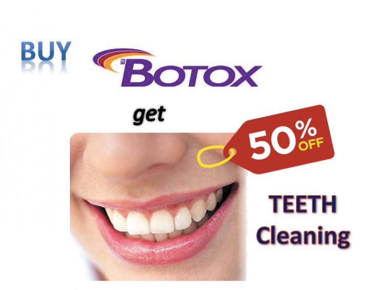 Buy Botox get 50% off full mouth teeth cleaning and polishing at Face To Teeth Clinic - Medical