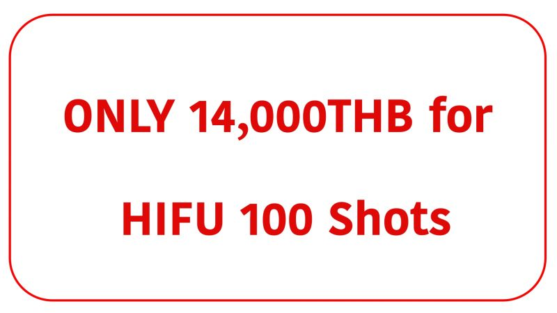 Special price for Hifu 100 shots