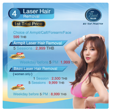 Get Laser Hair removal Promotion at KTOP Clinic