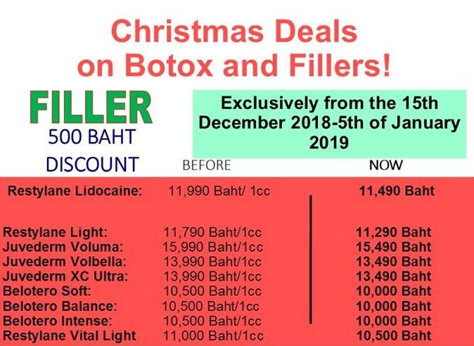 500 THB discount off all Fillers at MedConsult International Clinic