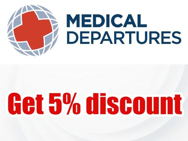 5% discount at Medical Departures.