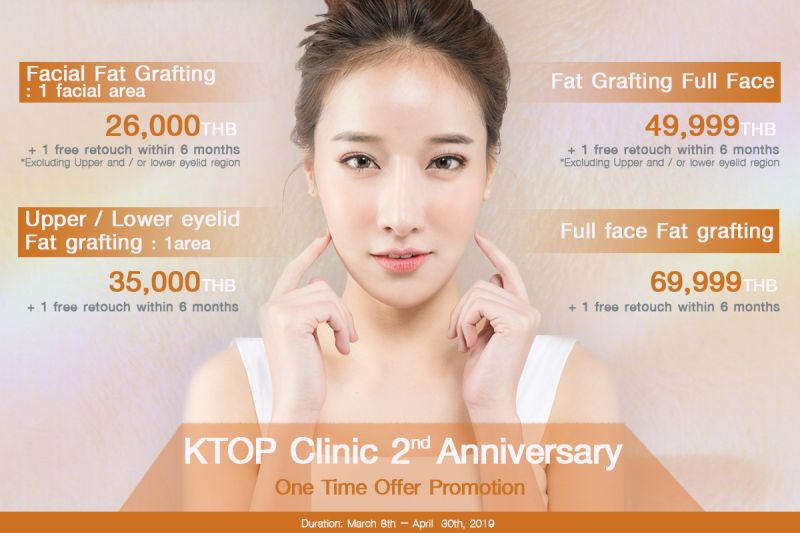 Fat grafting promotion at KTOP Clinic