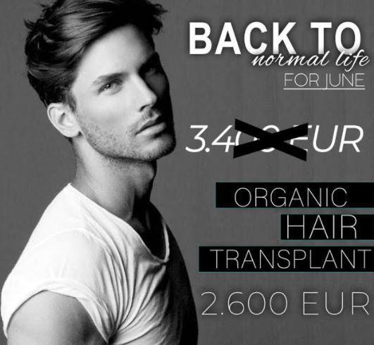Organic Hair Transplant Promotion - Estetik International Bursa