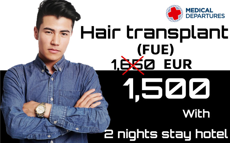 Hair Transplant (FUE) with Free 2 nights stay hotel