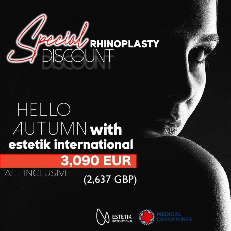 Special discount for Rhinoplasty at Estetik International Medical Bursa